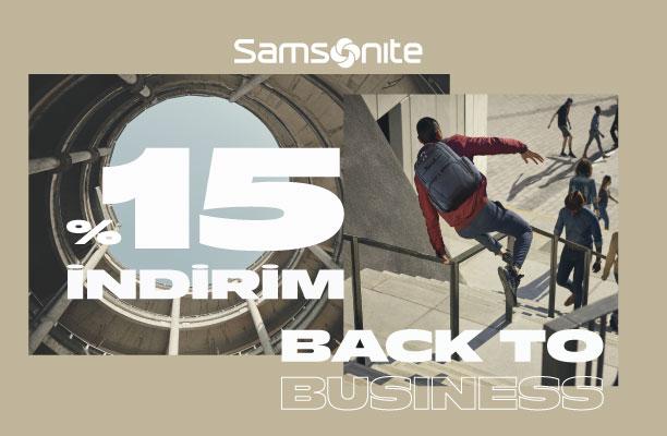 Samsonite Business  & Red ürünlerinde %15 indirim