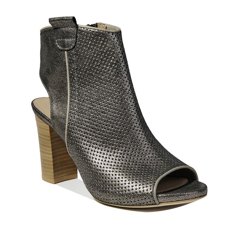 Ann Kadın Deri Bootie Sandalet
