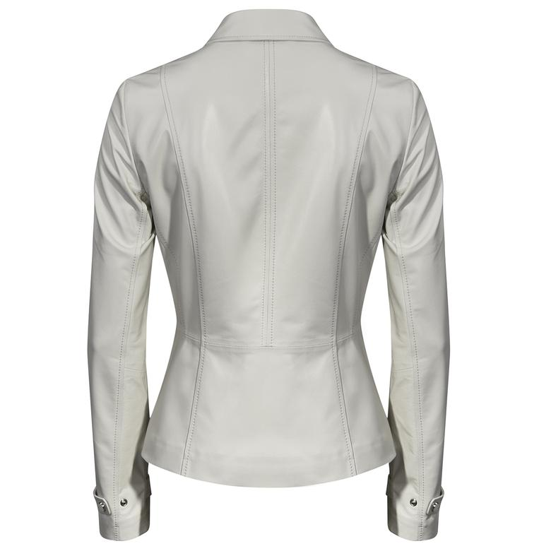 Manettia Kadın Uzun Deri Ceket