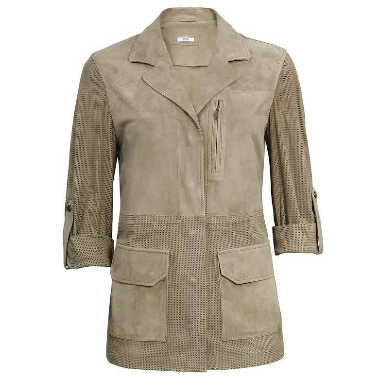 Francoa Kadın Süet Ceket