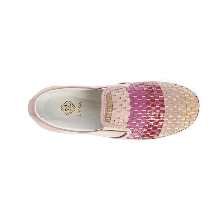 Gigli Örgülü Deri Kadın Spor Ayakkabı 2010041098022