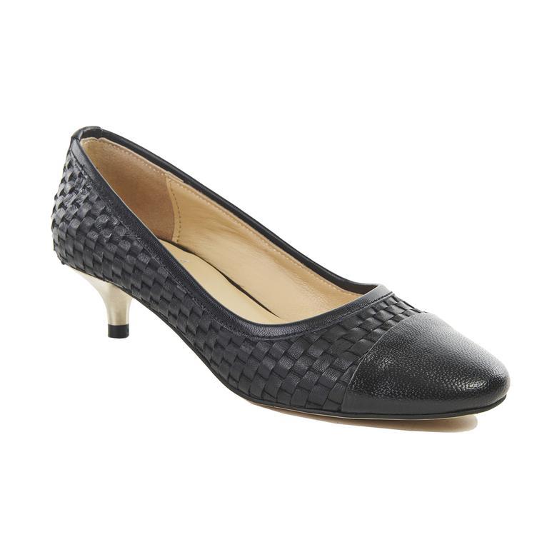 Kadın Deri Klasik Topuklu Ayakkabı 2010041201003