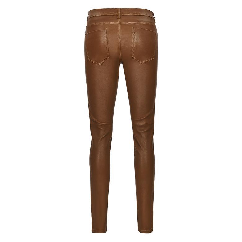 Kadın Streç Deri Pantolon 1010020485002