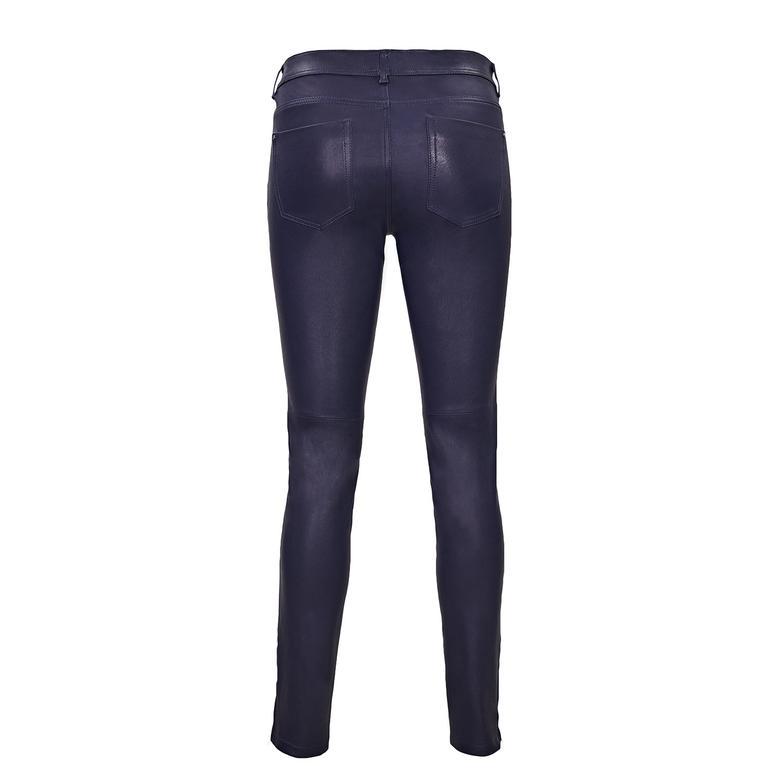 Kadın Streç Deri Pantolon