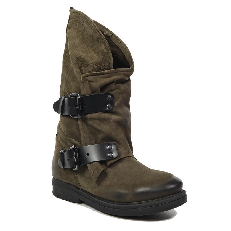 Agusta Kadın Deri Çizme
