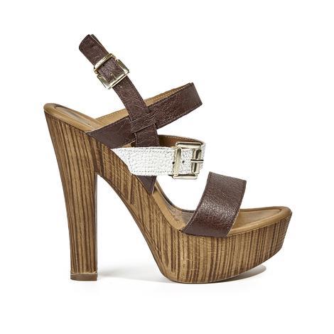 Megan Kadın Topuklu Deri Sandalet 2010039544021