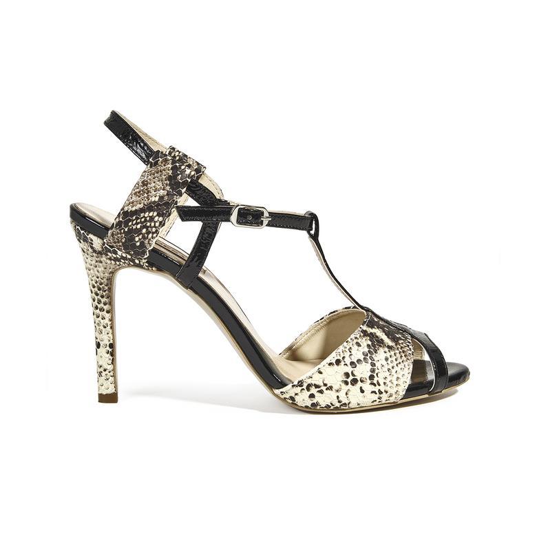 Kadın Topuklu Deri Sandalet 2010039733003