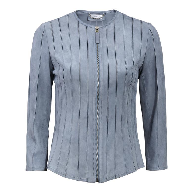 Kadın Panelli Süet Ceket