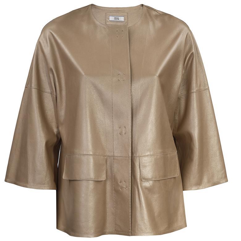 Kadın Kısa Deri Ceket