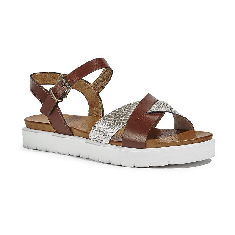 Keith Kadın Deri Sandalet