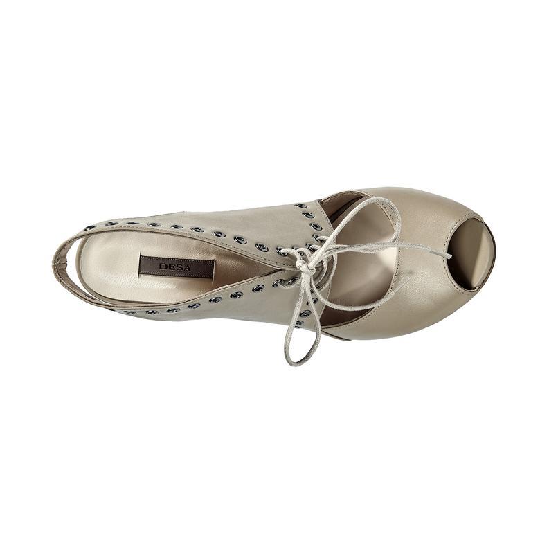 Star Kadın Deri Abiye Ayakkabı
