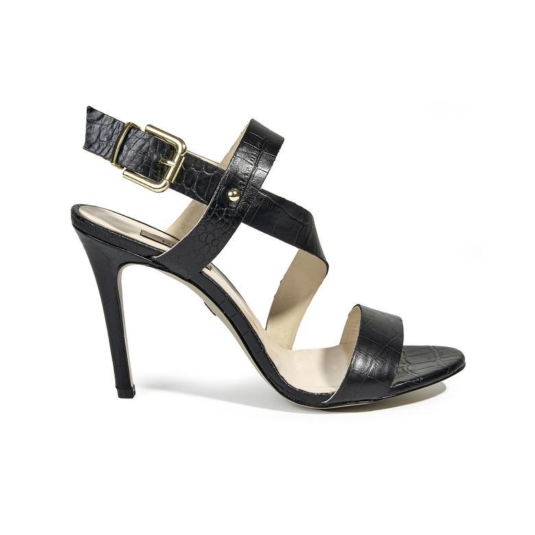 Allison Kadın Topuklu Deri Sandalet 2010039416007