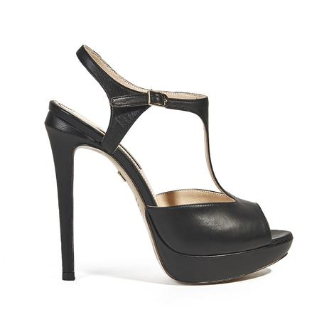 Kadın Topuklu Deri Sandalet 2010039740001