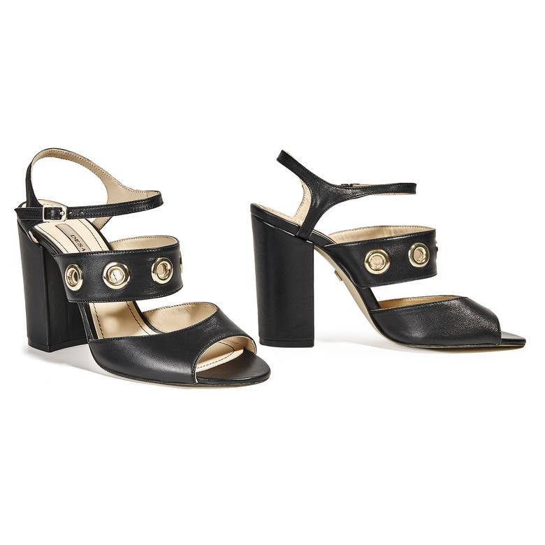 Kadın Topuklu Deri Sandalet 2010039806001