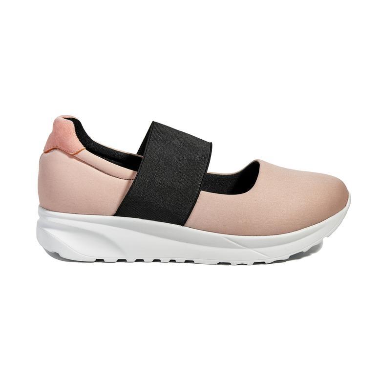 Kadın Deri Bantlı Spor Ayakkabı