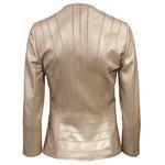 Kadın Panelli Deri Ceket