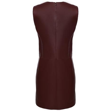 Bordo Elissa Kadın Deri Elbise 1010021673005