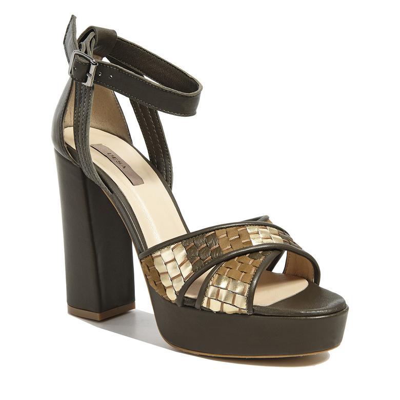Örgülü Kadın Sandalet 2010041426009