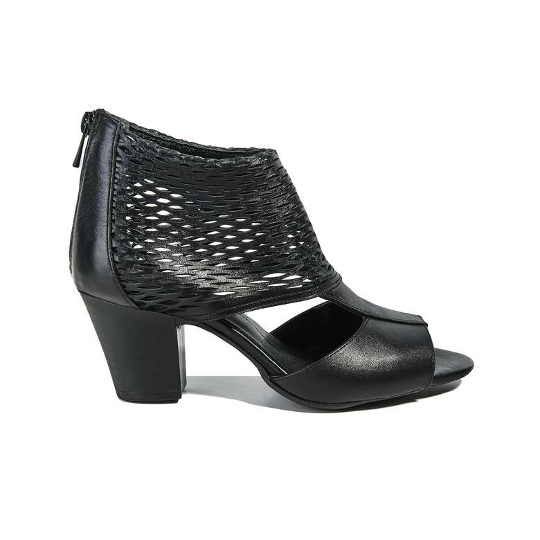 Malon Kadın Deri Bootie Sandalet 2010040691002