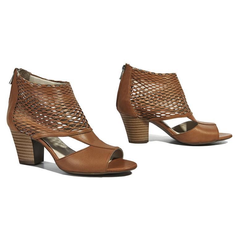 Malon Kadın Deri Bootie Sandalet 2010040691009