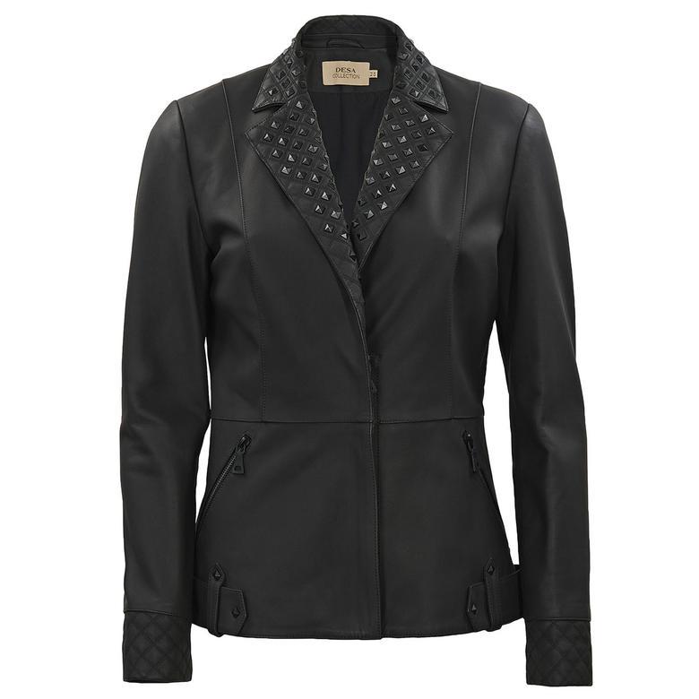 Greta Troklu Kadın Deri Ceket