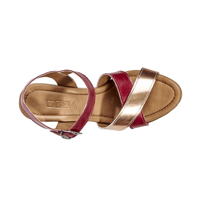 Kadın Topuklu Deri Sandalet 2010039596003