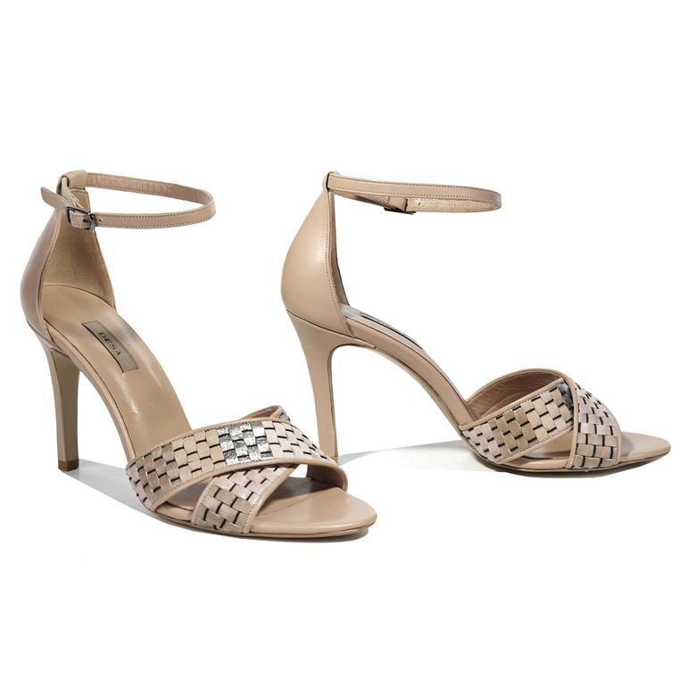Siena Örgü Desenli Kadın Sandalet 2010040919007