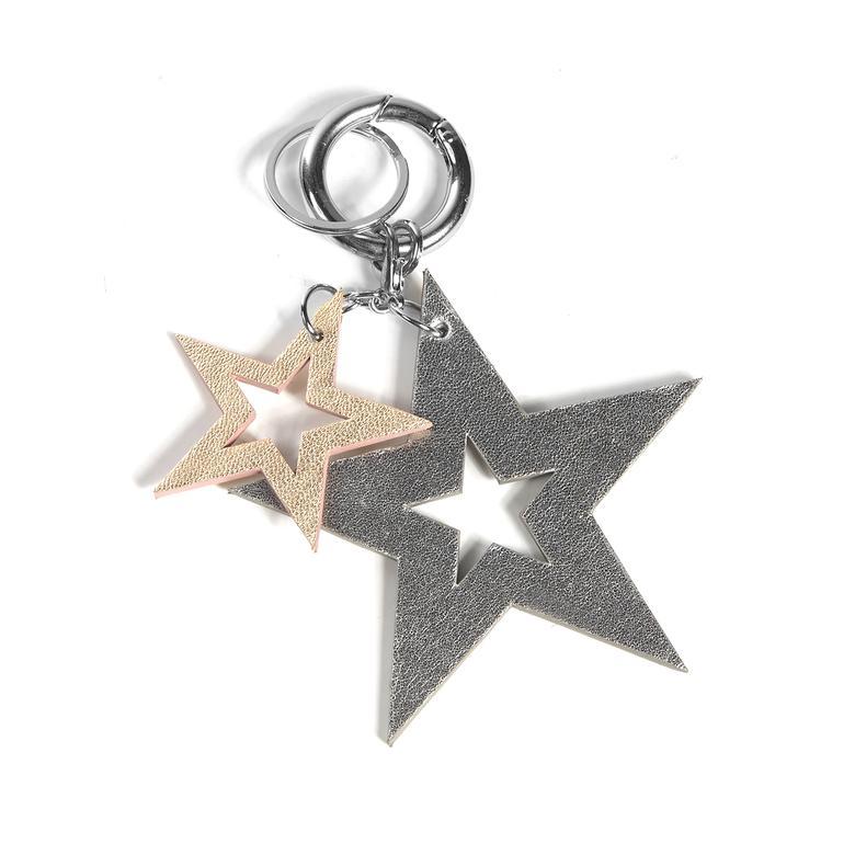 Yıldız Desenli Deri Anahtarlık