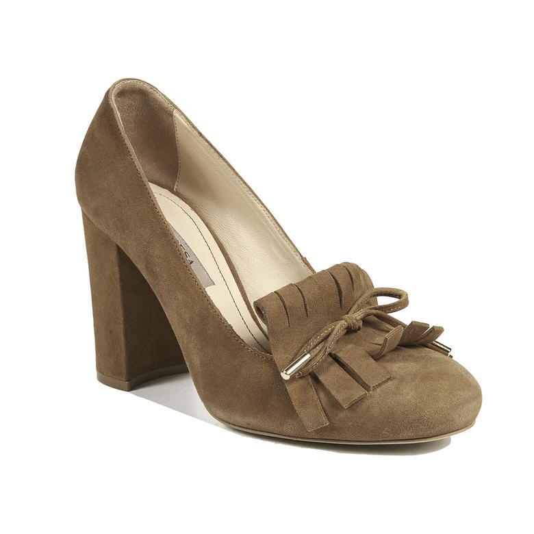 Kadın Deri Klasik Süet Ayakkabı