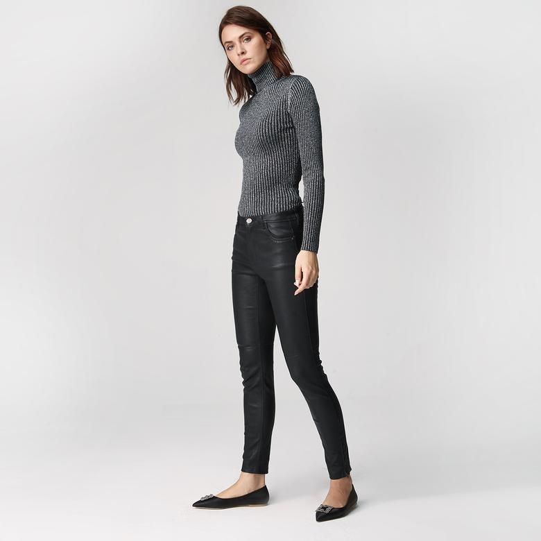 Nathalie Kadın Deri Pantolon