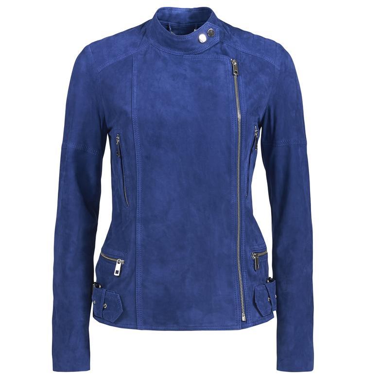 Kadın Süet Biker Ceket