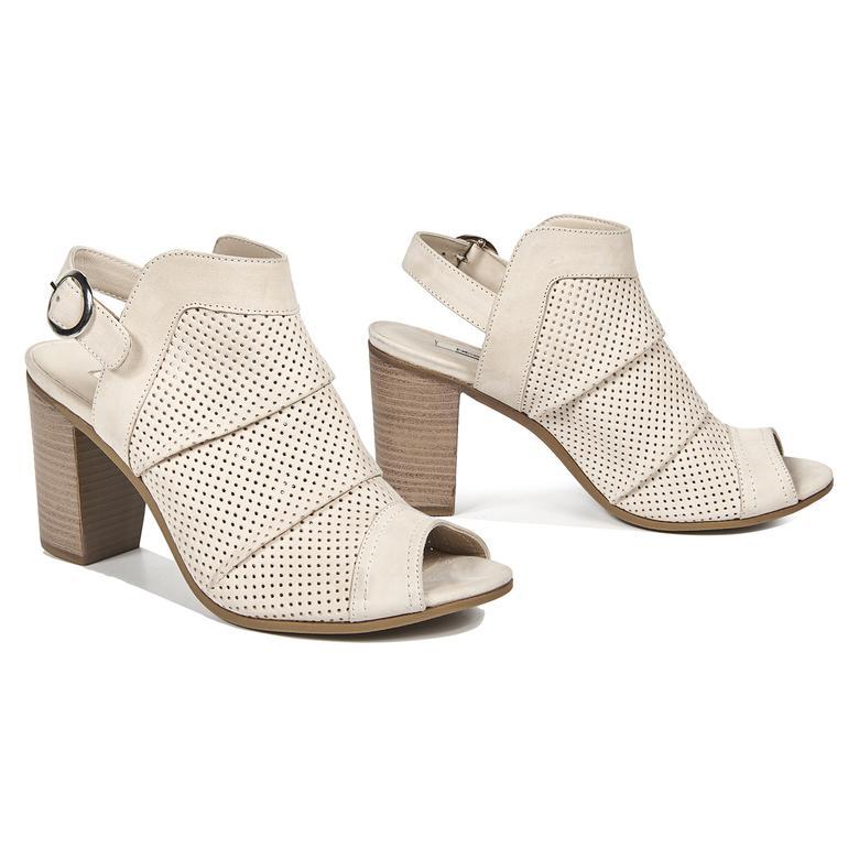Beryl Kadın Deri Bootie Sandalet