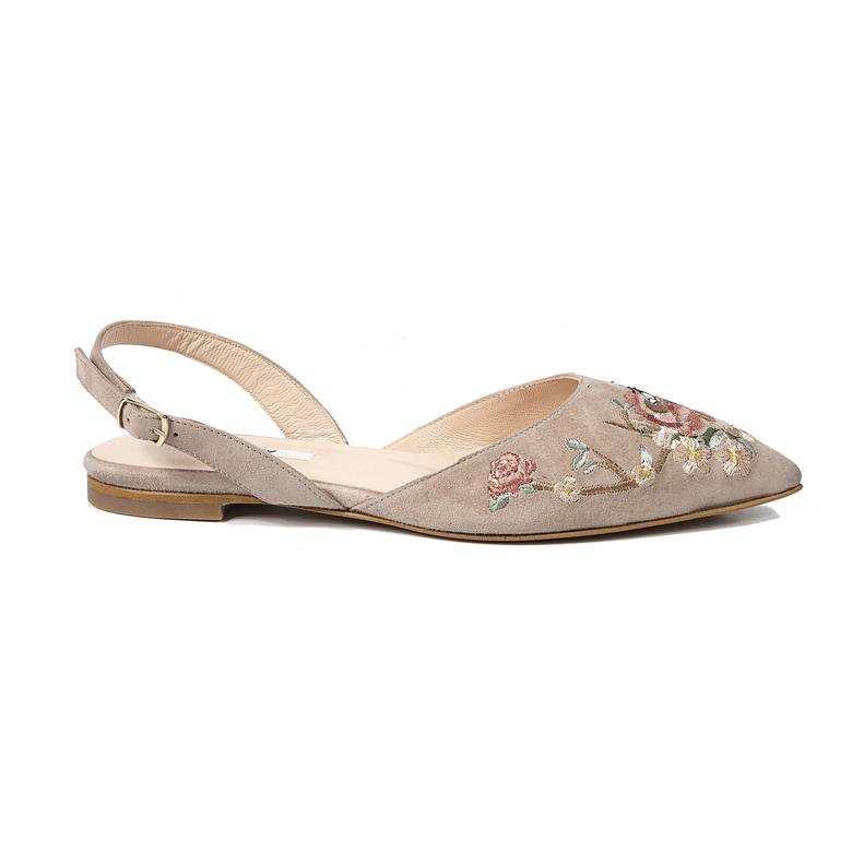 Fleur Kadın Süet Sandalet
