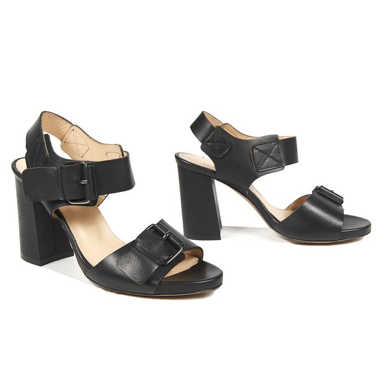 Chiara Kadın Deri Topuklu Sandalet