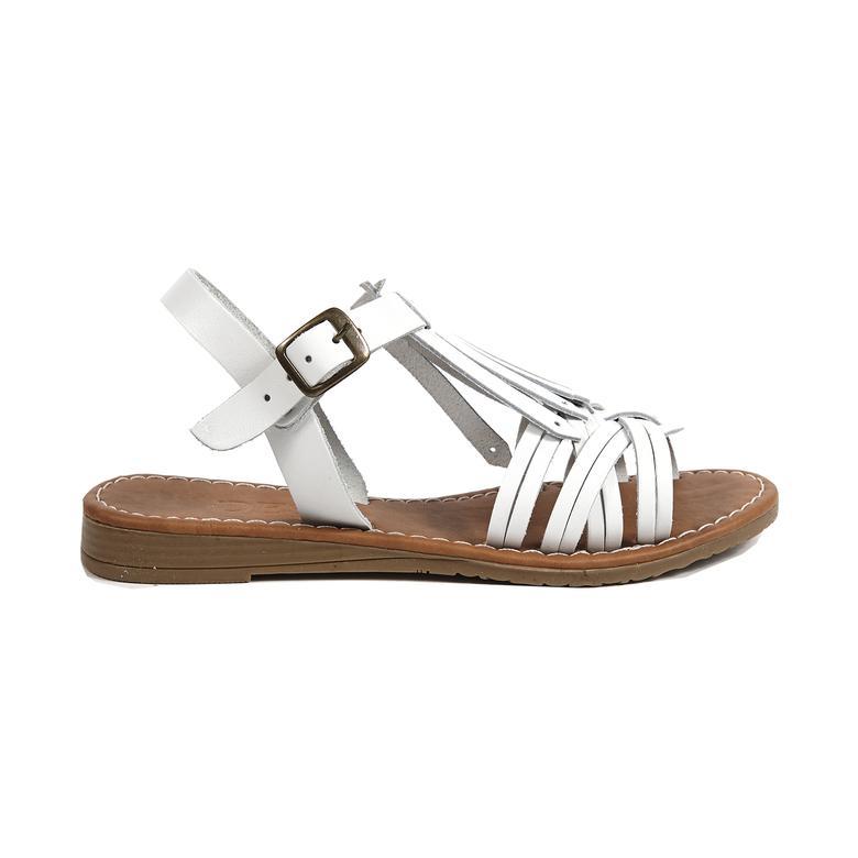 Spencer Kadın Deri Sandalet