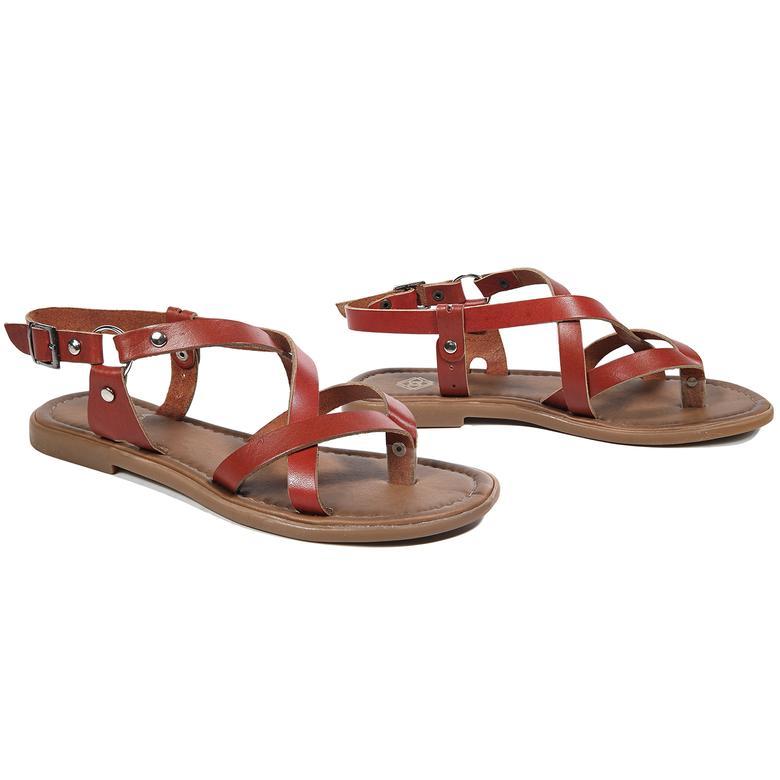 Kayla Kadın Deri Sandalet
