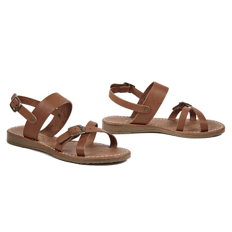 Booke Kadın Deri Sandalet