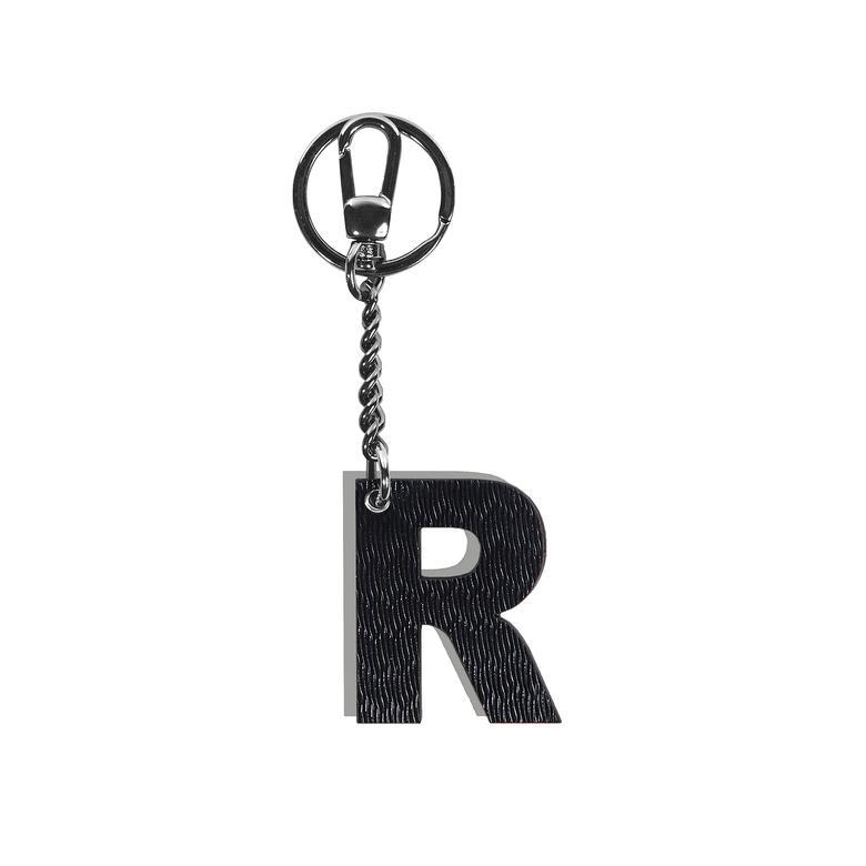 R Harfi Deri Anahtarlık