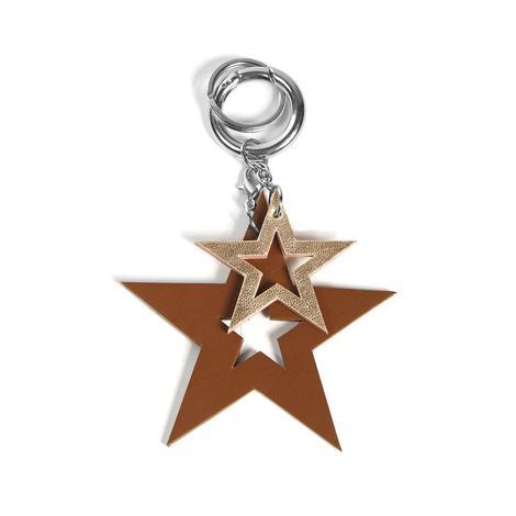 Yıldız Desenli Deri Anahtarlık 1010026019003