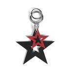 Yıldız Desenli Deri Anahtarlık 1010026019001