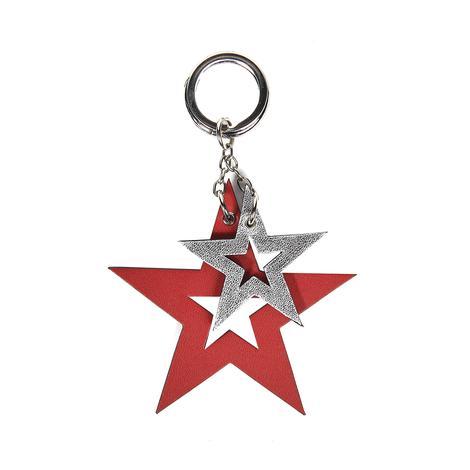 Yıldız Desenli Deri Anahtarlık 1010026019004