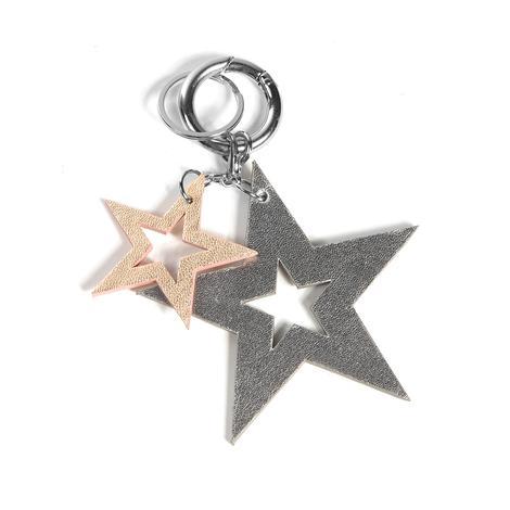 Yıldız Desenli Deri Anahtarlık 1010026019002