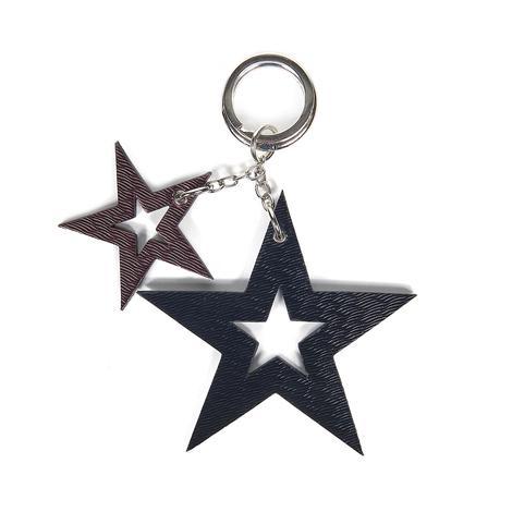 Yıldız Desenli Deri Anahtarlık 1010026021001