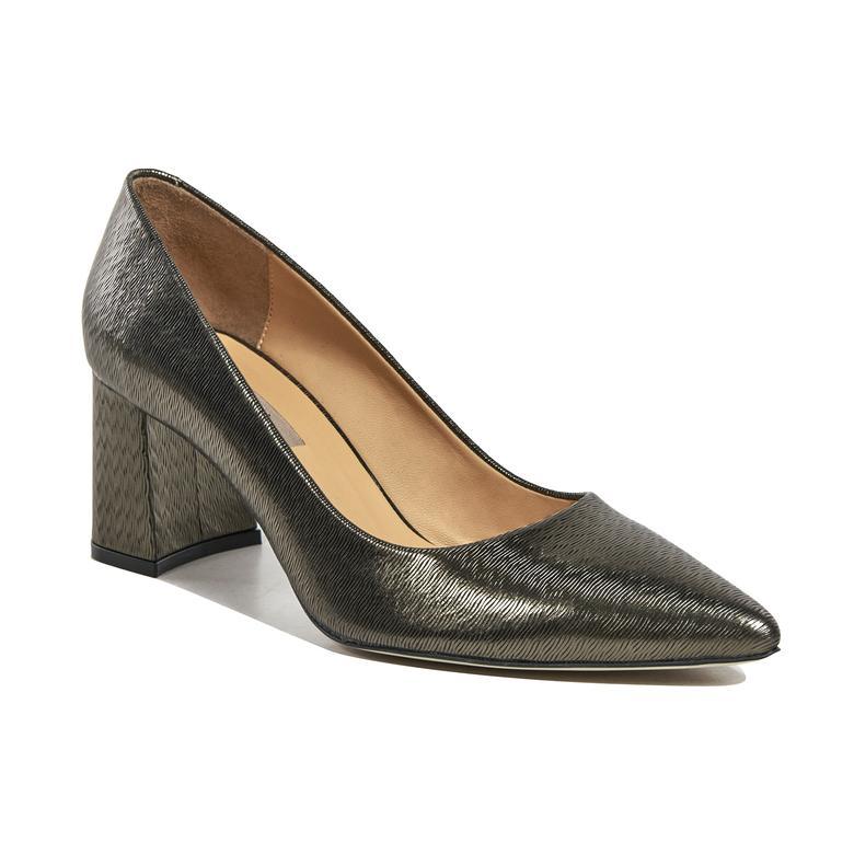 Kadın Deri Klasik Topuklu Ayakkabı 2010041743006
