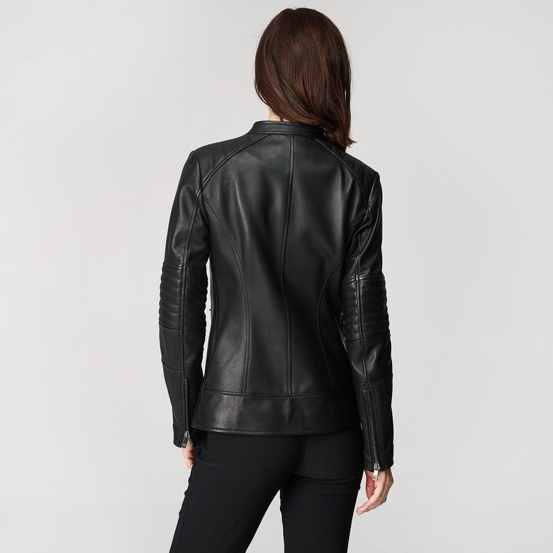 Delicia Kadın Uzun Deri Ceket