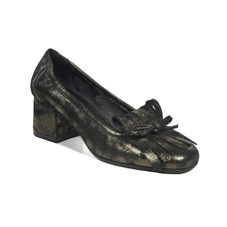 Fringe Kadın Deri Klasik Topuklu Ayakkabı 2010042201006