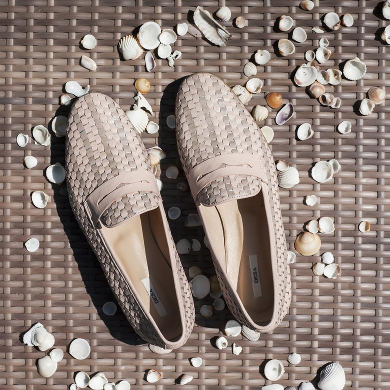 Clover Örgülü Kadın Deri Günlük Ayakkabı