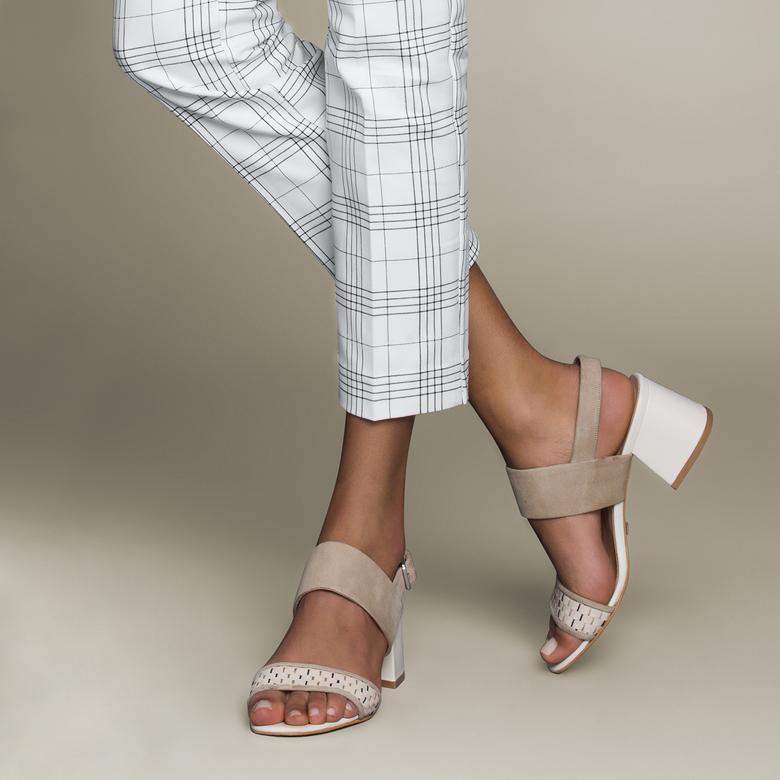 Juniper Örgülü Kadın Deri Topuklu Sandalet