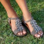 Lowell Kadın Deri Sandalet
