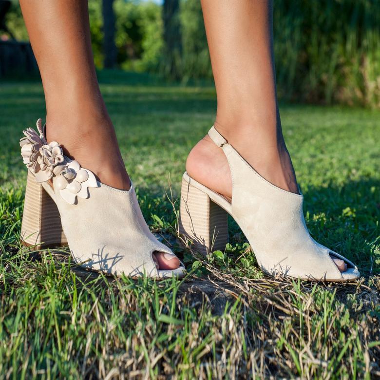 Khloe Kadın Deri Bootie Sandalet
